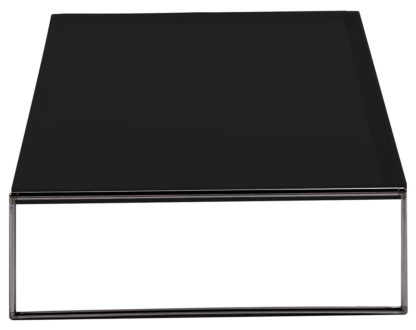 Möbel - Couchtische - Trays Couchtisch 80 x 80 cm - Kartell - Schwarz - verchromter Stahl