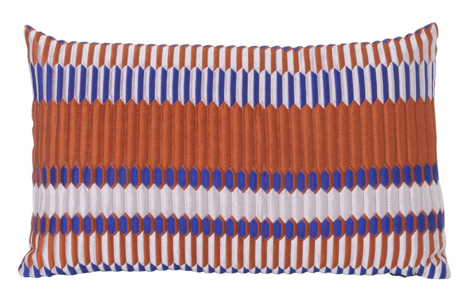 Déco - Coussins - Coussin Salon - Pleat / 40 x 25 cm - Ferm Living - Rouille - Mélange de fibres, Plumes