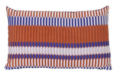 Interni - Cuscini  - Cuscino Salon - Pleat - / 40 x 25 cm di Ferm Living - Ruggine -  Plumes, Mélange di fibre