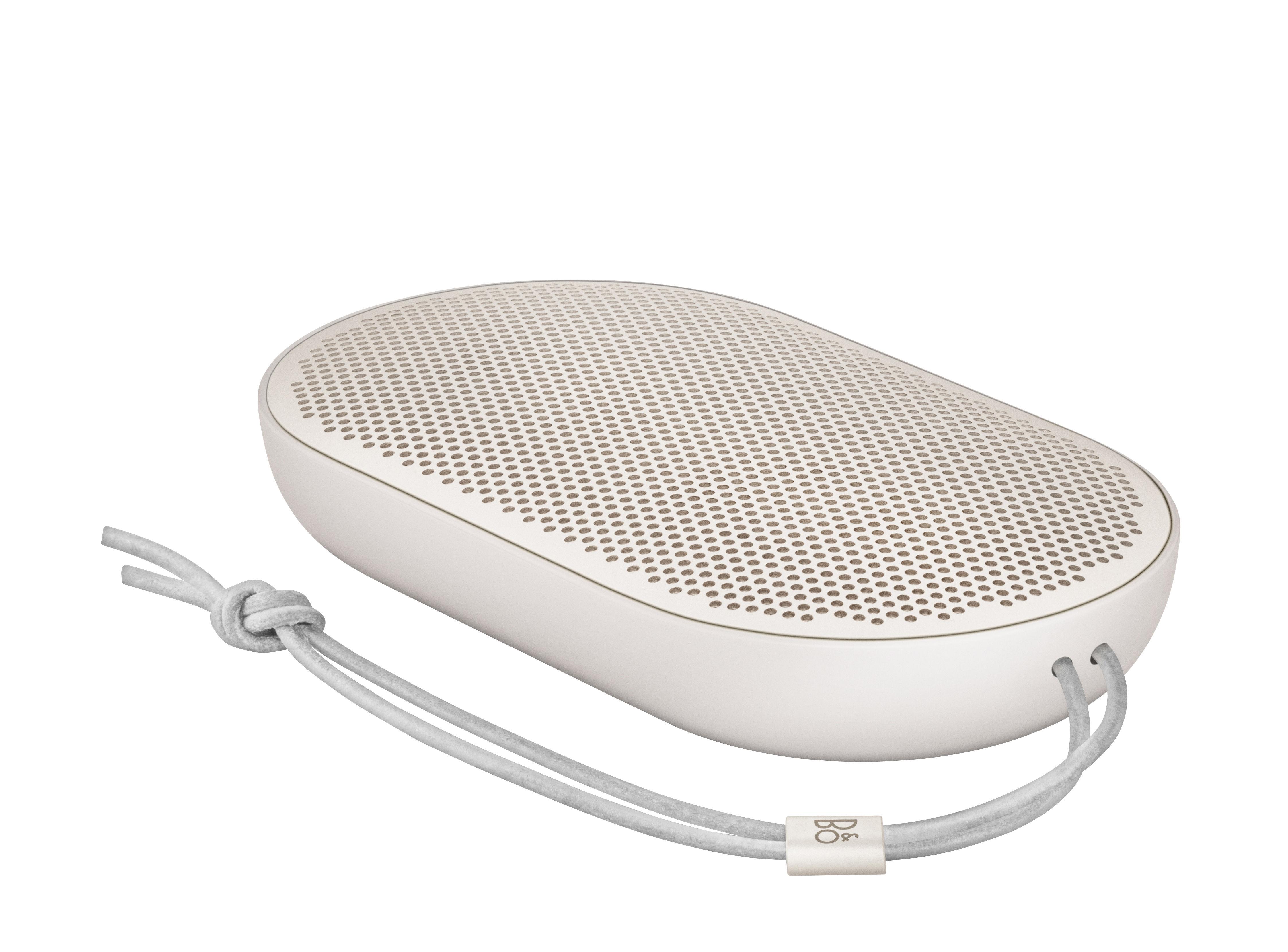 Accessori moda - Altoparlante & suono - Diffusore bluetooth P2 - senza fili / Ultra-nomade - 14 x 8 cm di B&O PLAY by Bang & Olufsen - Sabbia - Alluminio anodizzato, Pelle, Polimero