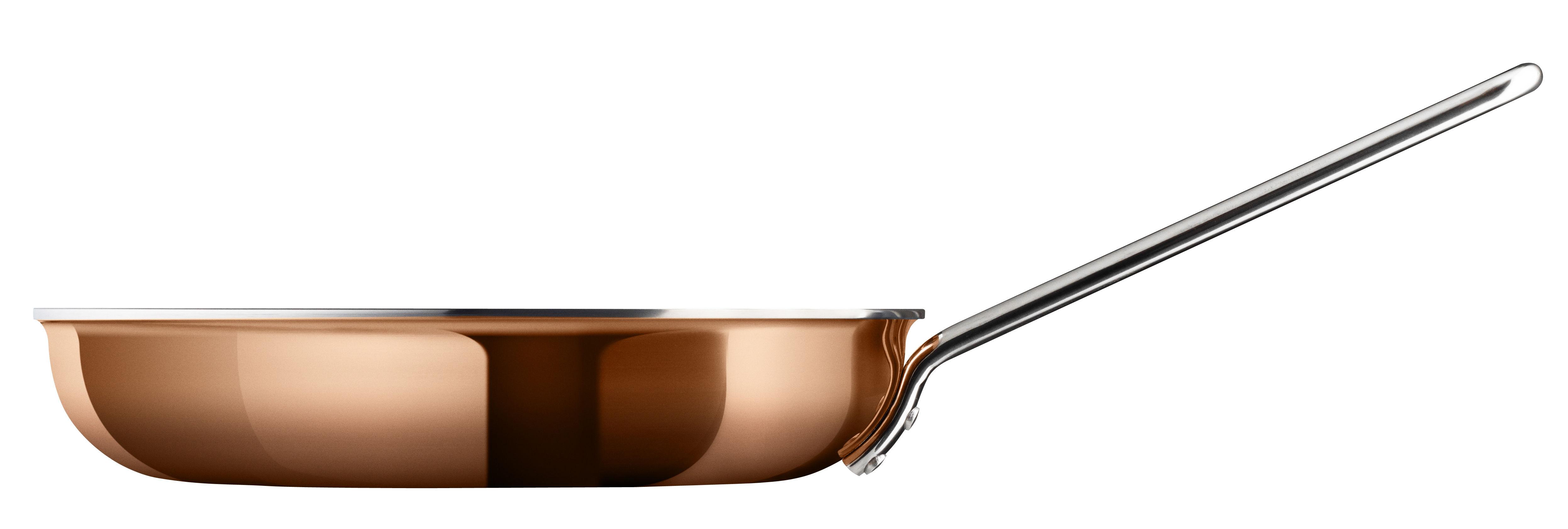Kitchenware - Pots & Pans - Copper Frying pan - Ø 24 cm by Eva Trio - Copper - Aluminium, Copper, Steel