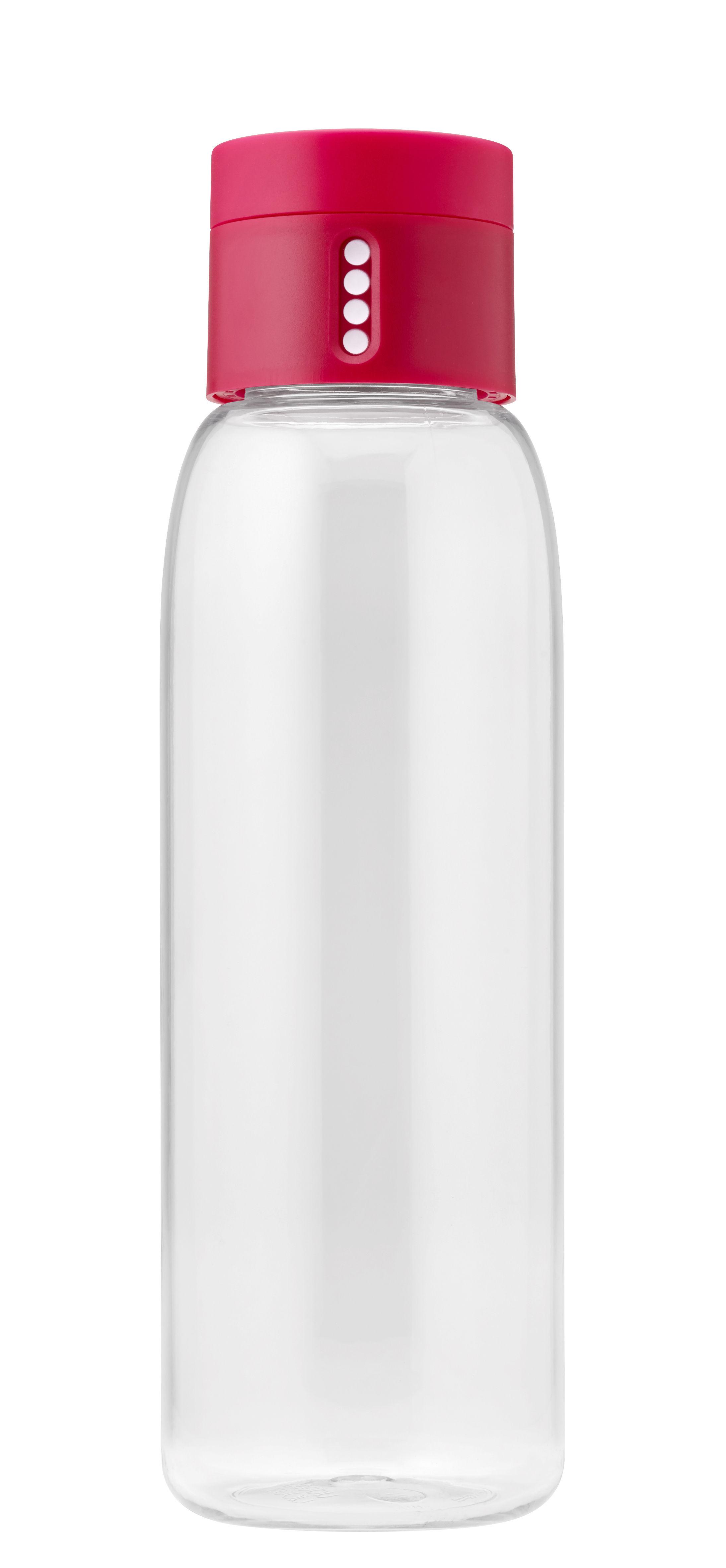 Arts de la table - Carafes et décanteurs - Gourde Dot / Bouchon intelligent - 600 ml - Joseph Joseph - Rose - Plastique écologique
