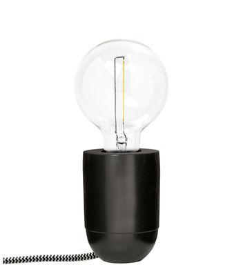 Illuminazione - Lampade da tavolo - Lampada da tavolo Nara - / Applique - H 10 cm di Pop Corn - Nero opaco - Ottone massiccio dipinto