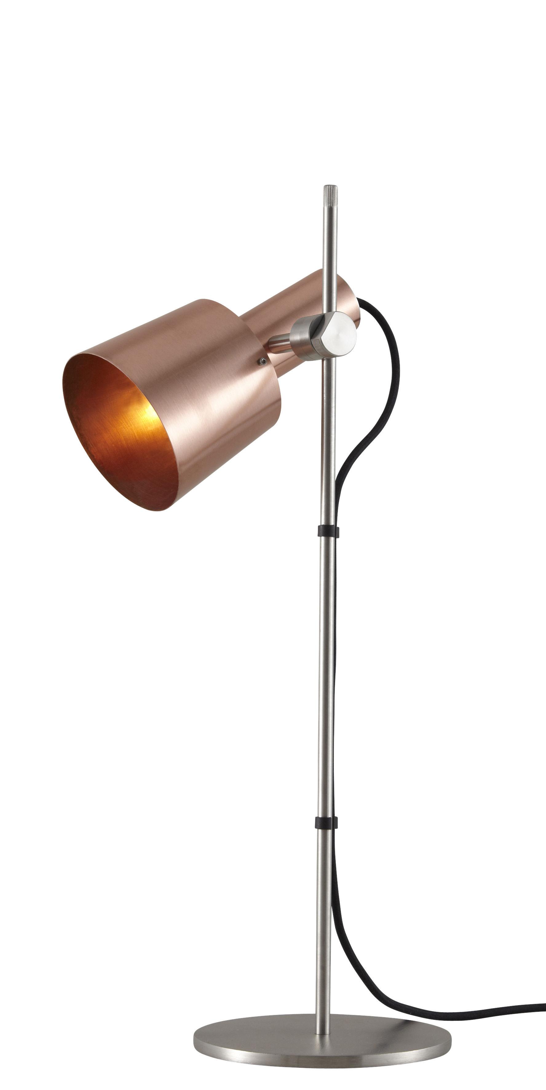 Luminaire - Lampes de table - Lampe de table Chester / H 57 cm - Ajustable & orientable - Original BTC - Cuivre satiné / Pied acier - Acier inoxydable, Cuivre satiné