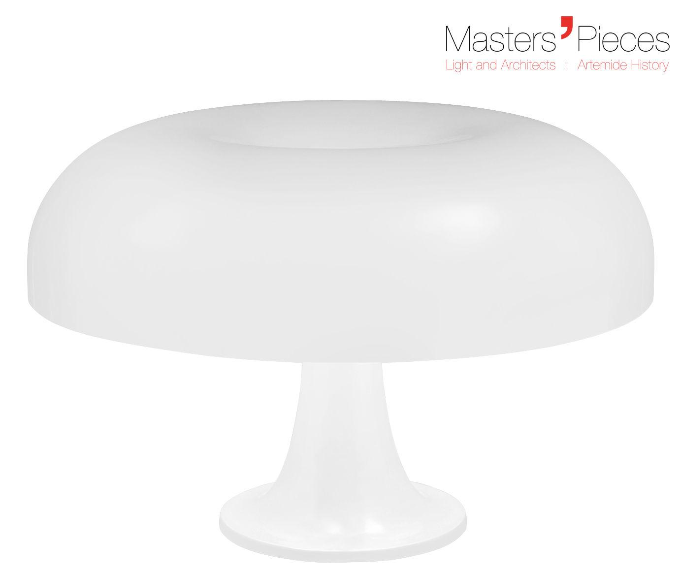 Luminaire - Lampes de table - Lampe de table Masters' Pieces - Nesso / 1967 - Ø 54 cm - Artemide - Blanc - ABS