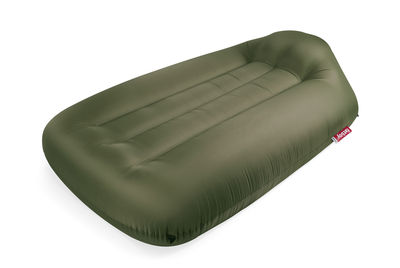 Matelas gonflable Lamzac L / L 195 x Larg 112 cm - Fatboy vert olive en tissu
