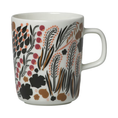 Tableware - Coffee Mugs & Tea Cups - Letto Mug - / 25 cl by Marimekko - Letto / White, green & brown - Sandstone