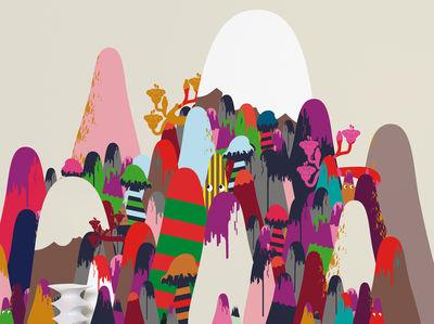 Déco - Stickers, papiers peints & posters - Papier peint panoramique Mountains / 8 lés - L 372 x H 300 cm - Domestic - Mountains / Multicolore - Papier intissé