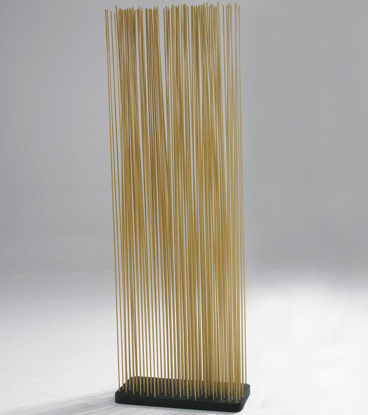 Möbel - Paravents, Raumteiler und Trennwände - Sticks Paravent L 60 x H 210 cm - für innen - Extremis - H 210 cm - natur - Fibre de verre renforcée, Recycelter Gummi