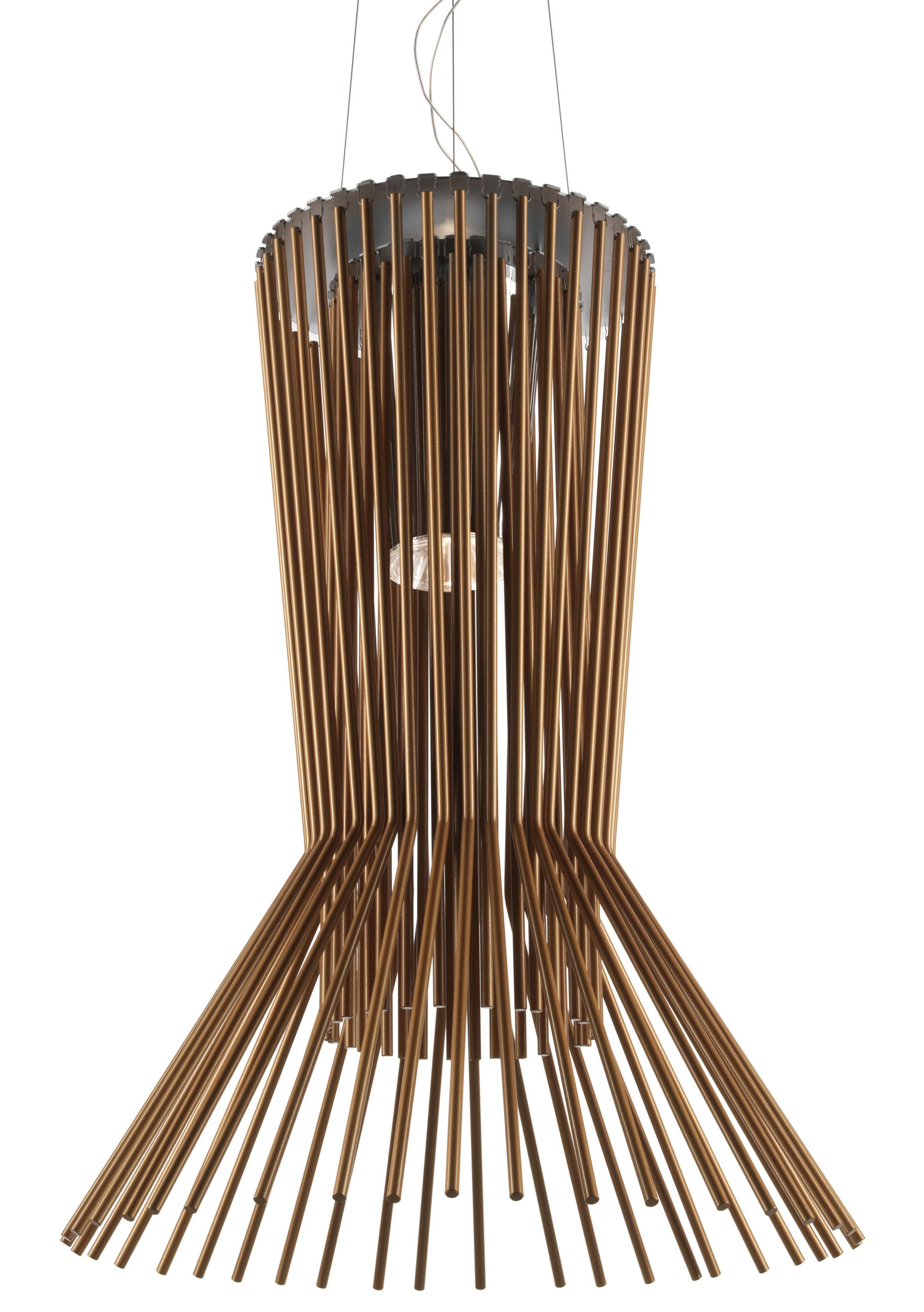 Lighting - Pendant Lighting - Allegro Vivace Pendant by Foscarini - Brown - Aluminium