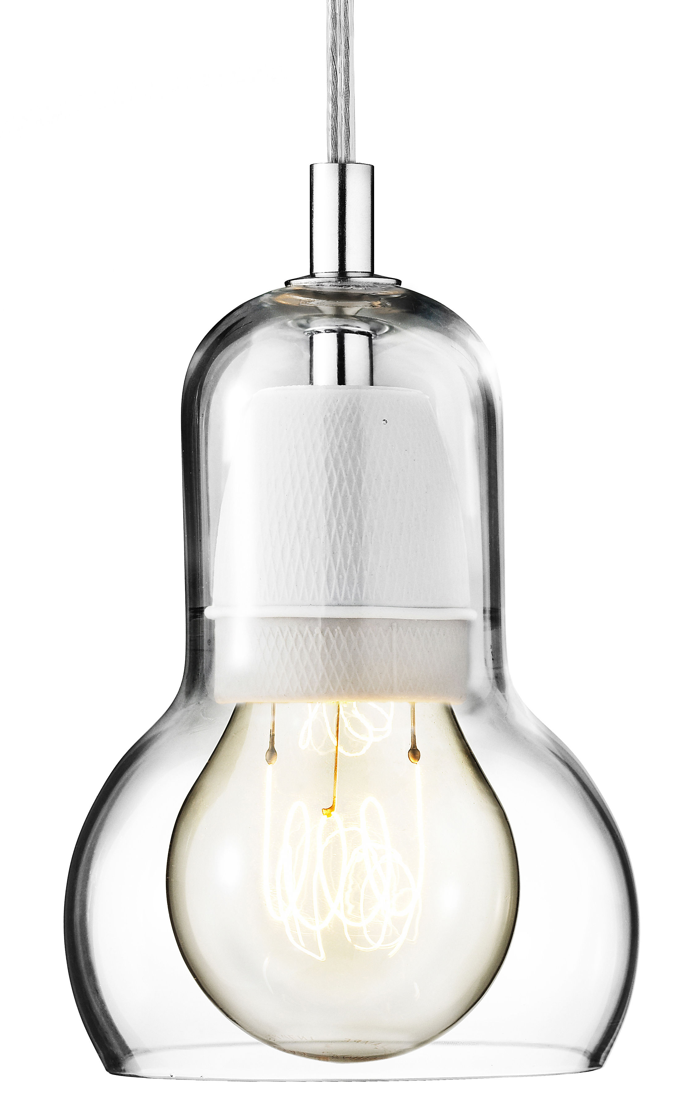 Lighting - Pendant Lighting - Bulb Pendant - Ø 11 cm - Transparent cable by And Tradition - Transparent / clear cord - Mouth blown glass