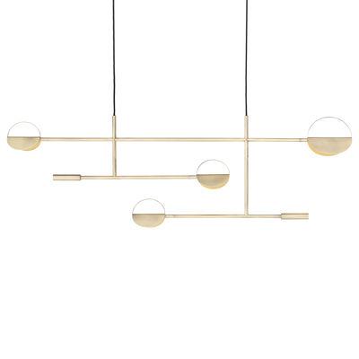 Lighting - Pendant Lighting - Leaves LED Pendant - / L 125 cm by Bolia - Matt brass - Metal