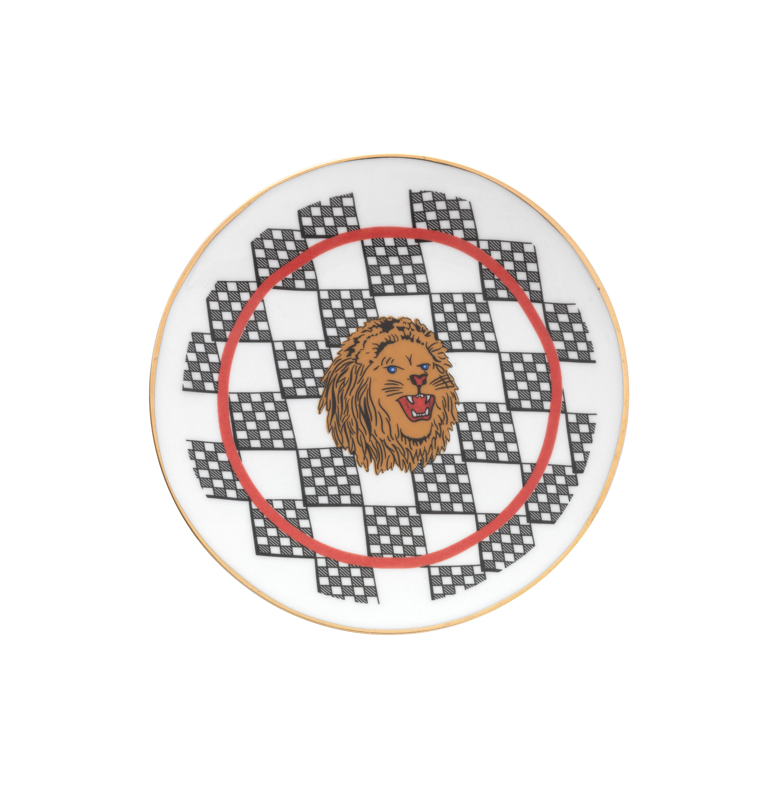 Tavola - Piatti  - Piatto da dessert Bel Paese - Leone - / Ø 12 cm di Bitossi Home - Leone - Porcellana