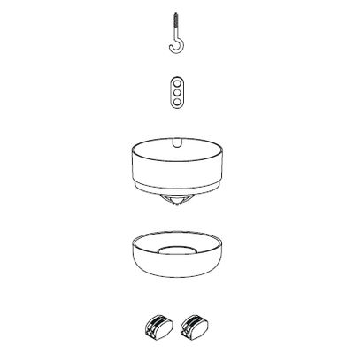 Illuminazione - Lampadine e Accessori - Rosone - Kit di fissaggio per sospensioni Unfold et E27 di Muuto - Bianco - Polietilene