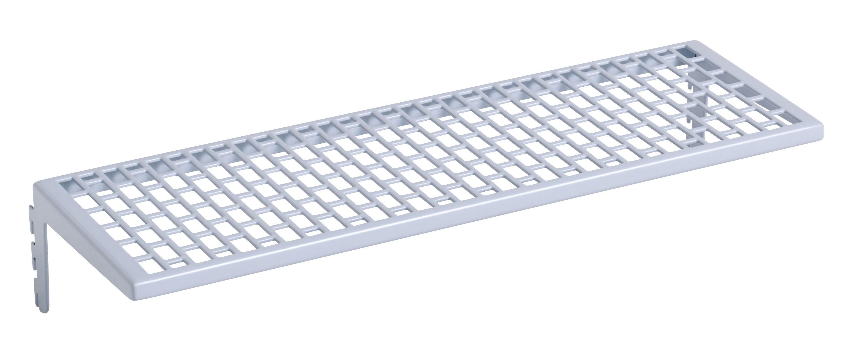 Interni - Contenitori e Cesti - Mensola Small Metallo / L 35 cm - Per pannello Pinorama - Hay - Blu chiaro - Acciaio verniciato