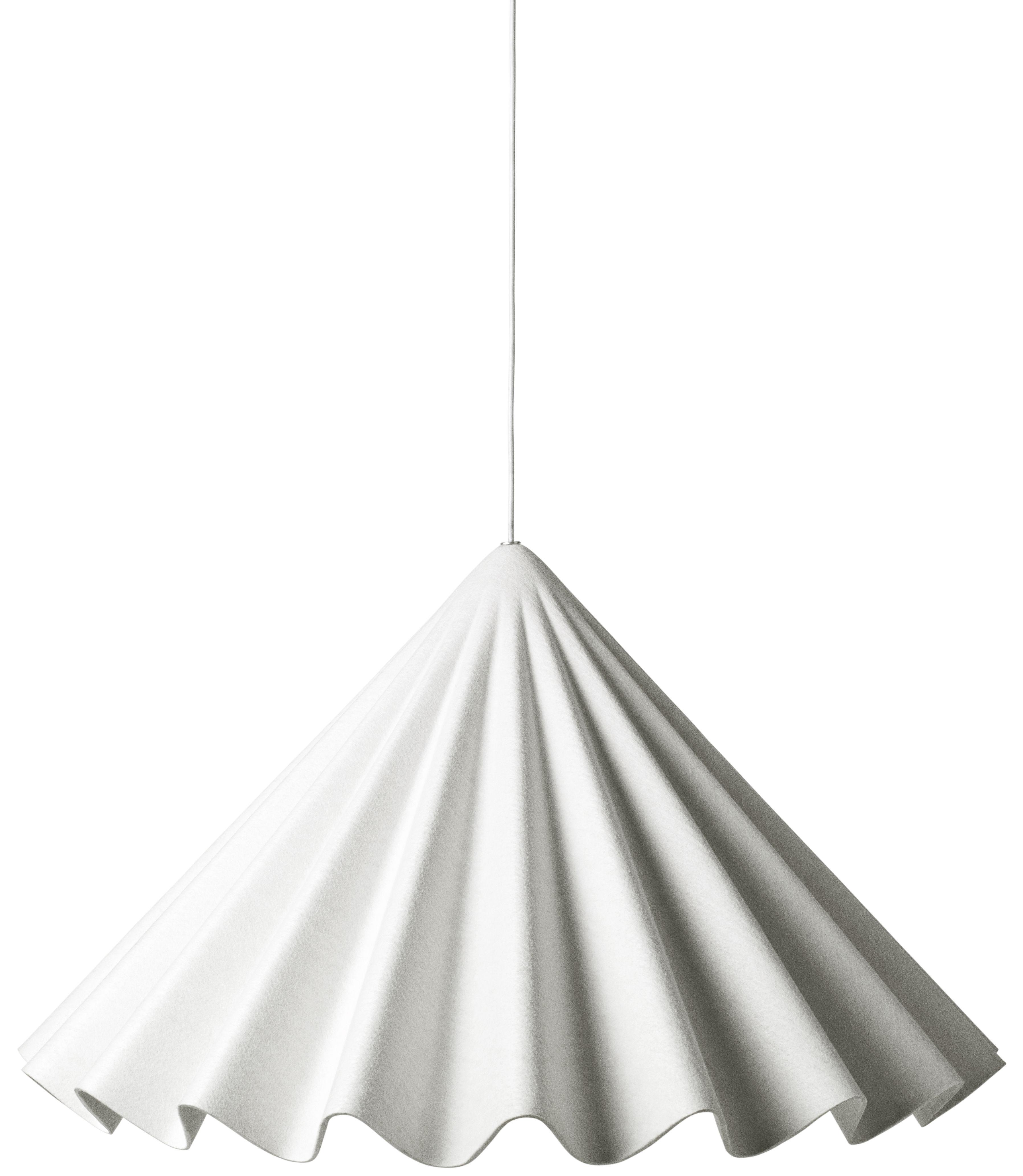 Illuminazione - Lampadari - Sospensione Dancing - / Feltro - Ø 95 cm di Menu - Bianco sporco - Feltro