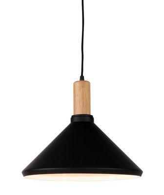 Illuminazione - Lampadari - Sospensione Melbourne Medium - /Ø 35 x H 30 cm - Metallo & legno di It's about Romi - Medium / Nero & legno - Acciaio verniciato, Hévéa
