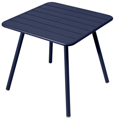 Outdoor - Garden Tables - Luxembourg Square table - / 80 x 80 cm - 4 legs by Fermob - Ocean Blue - Lacquered aluminium
