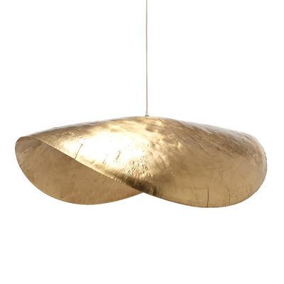 Luminaire - Suspensions - Suspension Brass 96 / L 120 cm - Gervasoni - Laiton mat - Laiton martelé