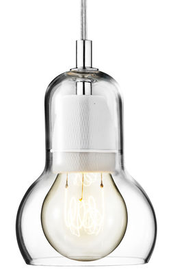 Suspension Bulb Ø 11 cm - Cordon transparent - &tradition transparent en verre