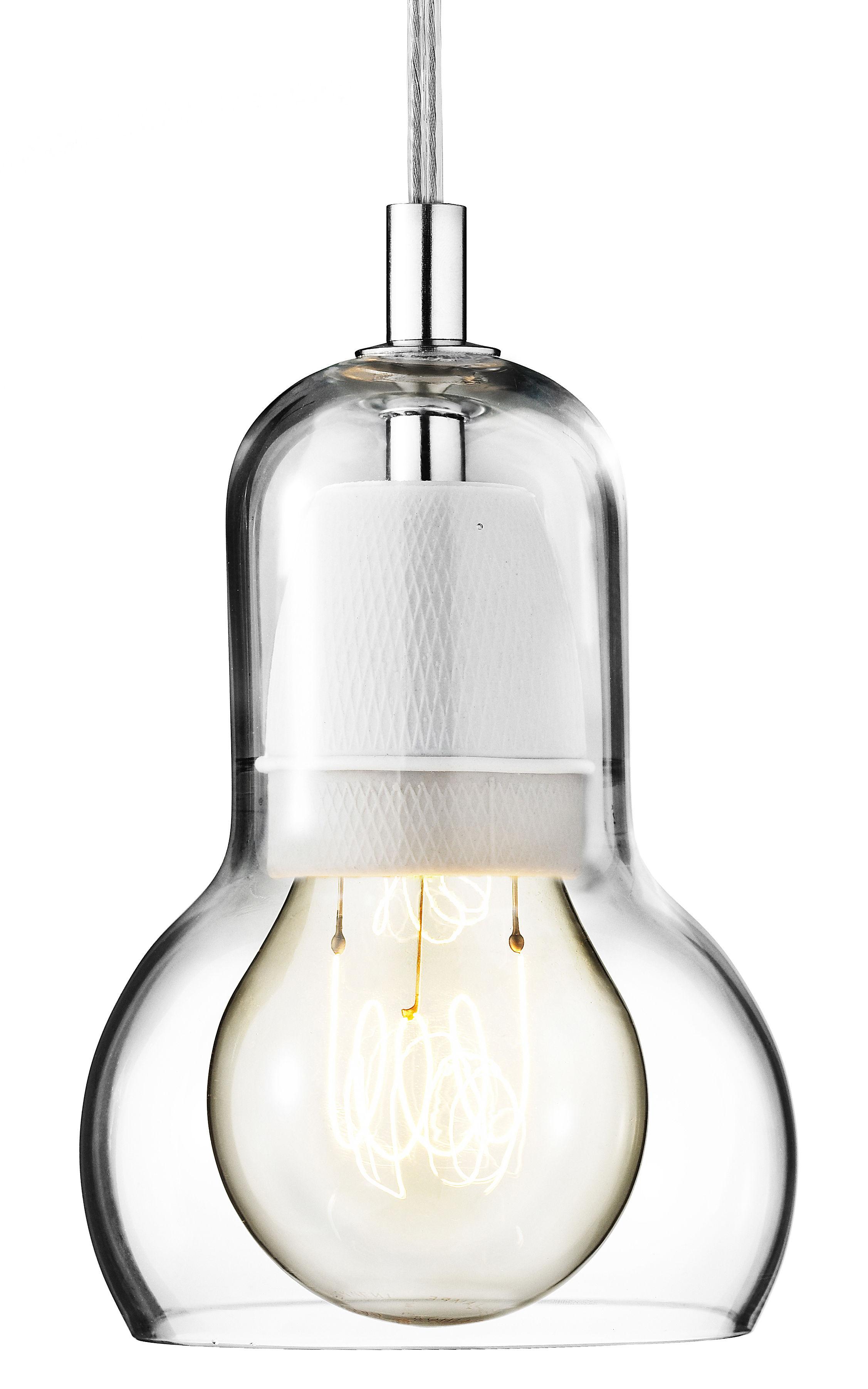 Luminaire - Suspensions - Suspension Bulb Ø 11 cm - Cordon transparent - &tradition - Transparent / câble transparent - Verre soufflé bouche