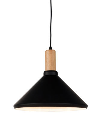 Suspension Melbourne Medium /Ø 35 x H 30 cm - Métal & bois - It's about Romi noir,bois naturel en métal