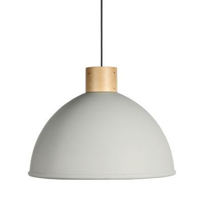 Suspension Olot / Ø 58,5 cm - Métal & bois - EASY LIGHT by Carpyen hêtre naturel,gris craie en métal