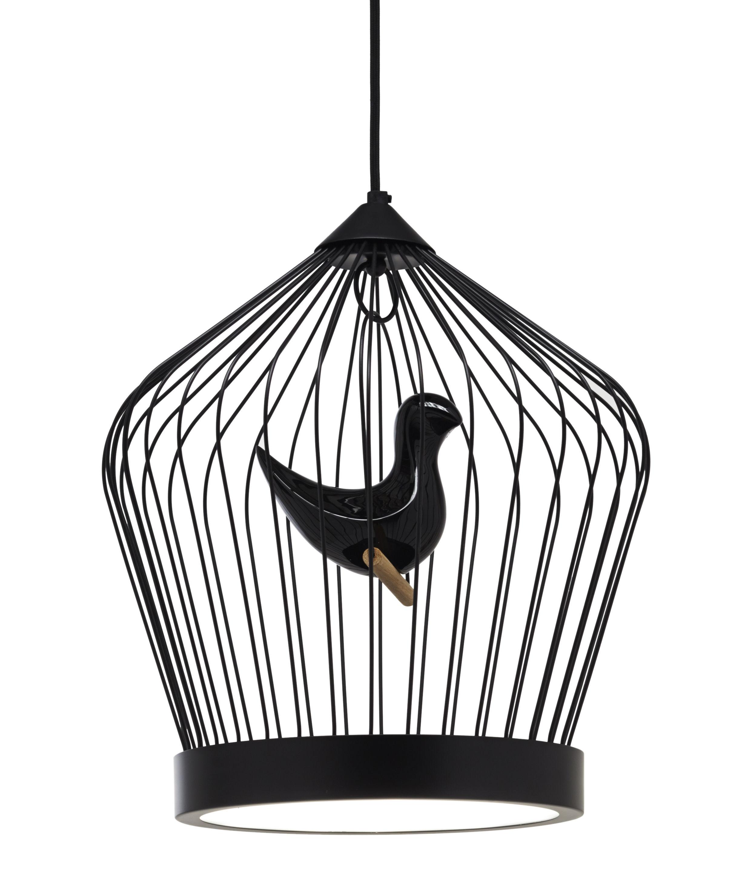 Luminaire - Suspensions - Suspension Twee T. Small / LED - H 46 cm - Casamania - Noir - Céramique, Métal peint