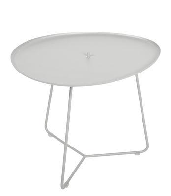 Table basse Cocotte / L 55 x H 43,5 cm - Plateau amovible - Fermob gris métal en métal