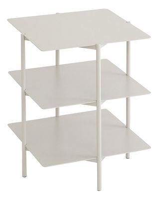 Table d'appoint Tier Métal 42 x 42 x H 54 cm Umbra Shift gris clair en métal