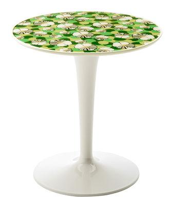 Table d'appoint Tip Top La Double J / Plateau PMMA - Kartell blanc/vert en matière plastique