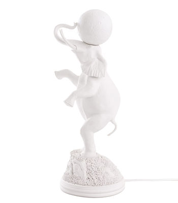 Lighting - Table Lamps - Elephant Table lamp - / H 55 cm by Seletti - White - China, Resin