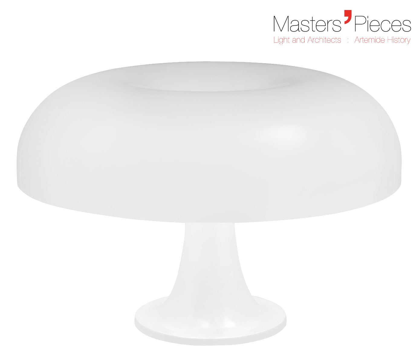 Lighting - Table Lamps - Masters' Pieces - Nesso Table lamp - 1967 / Ø 54 cm by Artemide - White - ABS