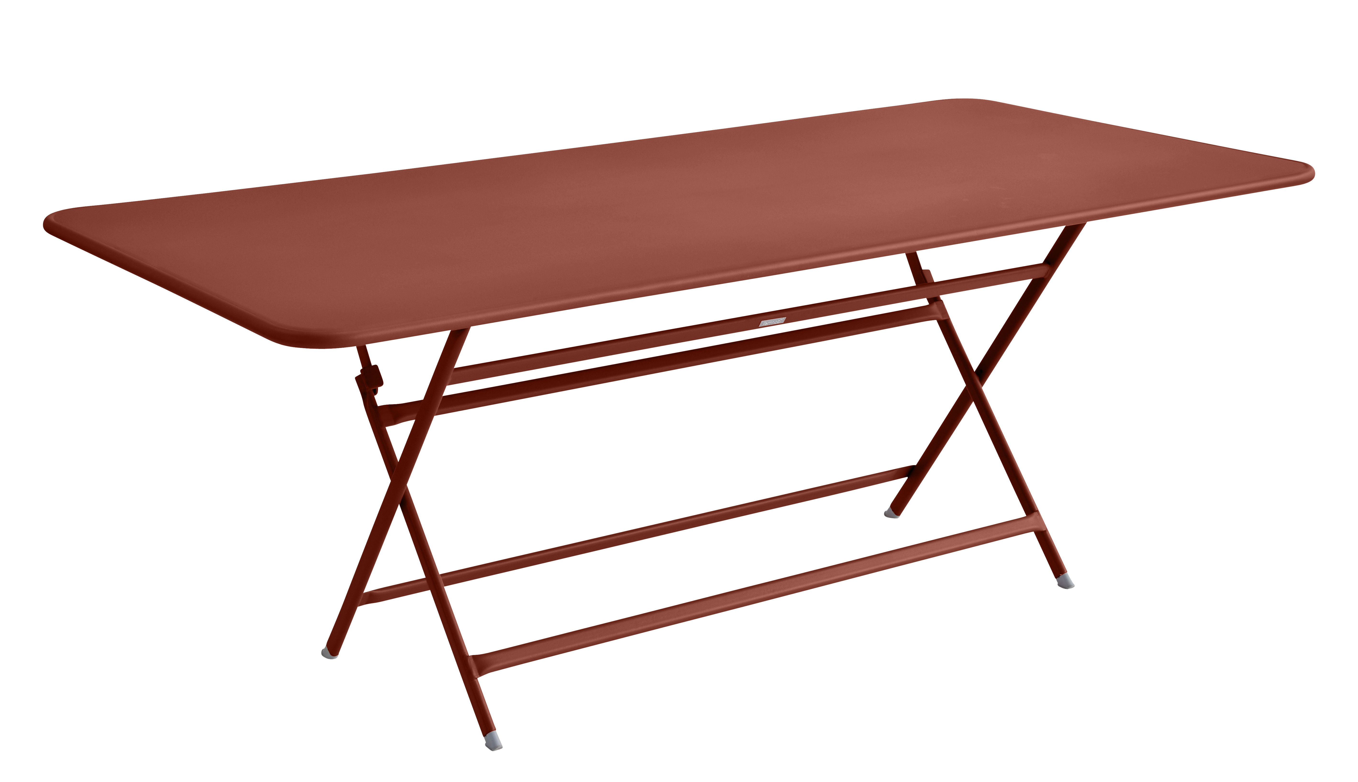 Table pliante Caractère Fermob - Rouge/Marron | Made In Design