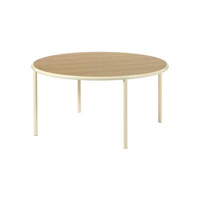 Table ronde Wooden / Ø 150 cm - Chêne & acier - valerie objects blanc/beige/bois naturel en bois