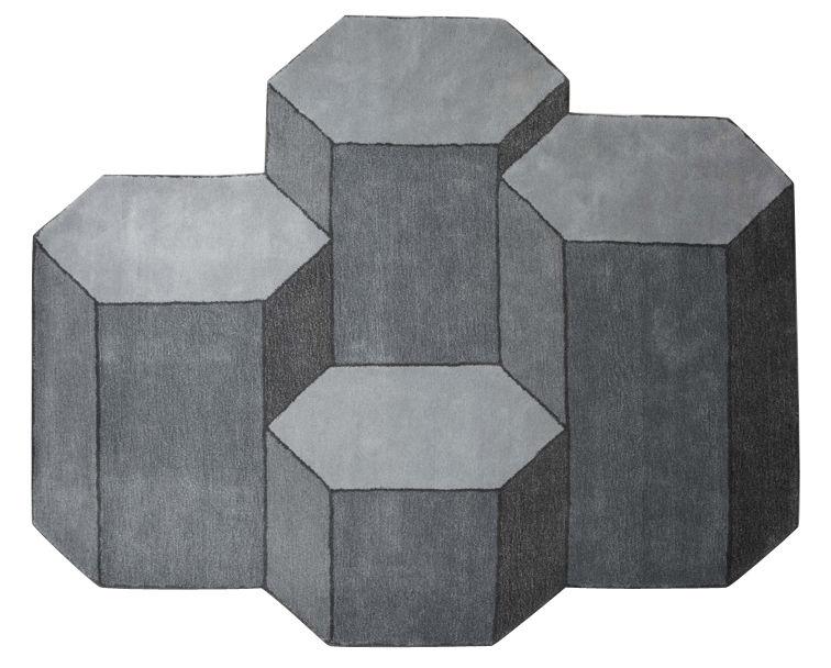 Déco - Tapis - Tapis Basalte / XL - 230 x 200 cm - ENOstudio - XL / Gris - Laine de Nouvelle-Zélande