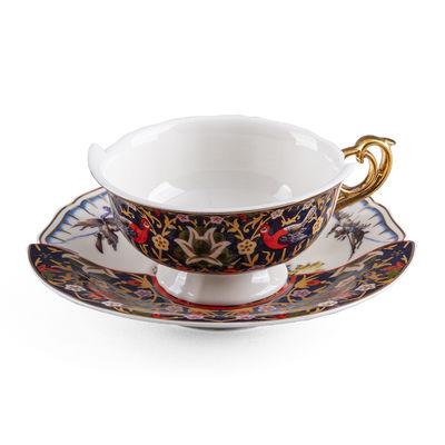 Tasse à thé Hybrid Kannauj / Set tasse + soucoupe - Seletti multicolore en céramique