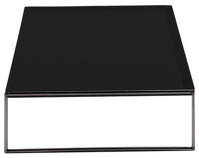 Arredamento - Tavolini  - Tavolino Trays - 80 x 80 cm di Kartell - Nero - Acciaio cromato