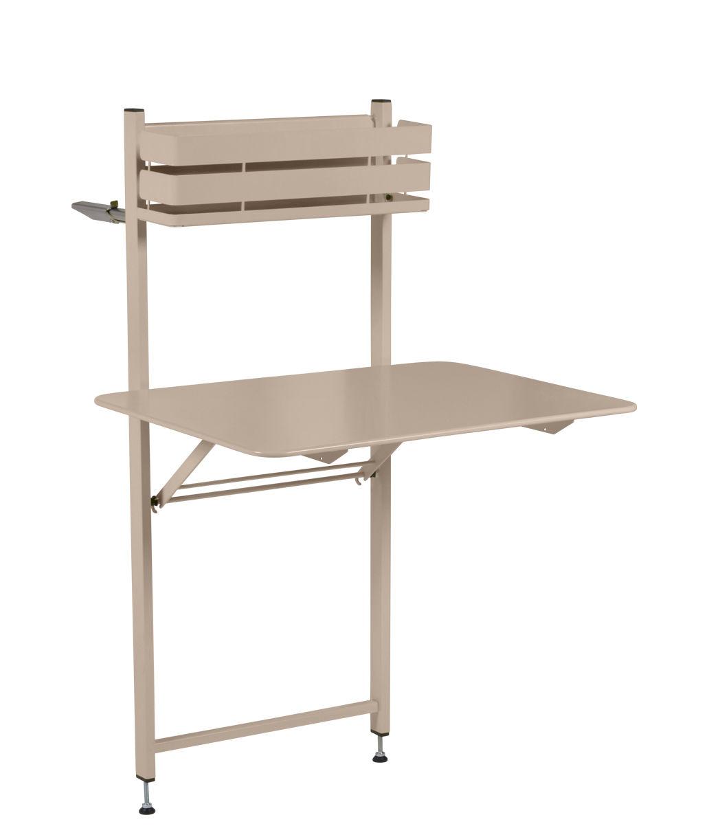 Outdoor - Tavoli  - Tavolo pieghevole Balcon Bistro - / Ribaltabile - 77 x 64 cm di Fermob - Noce moscata - Acciaio verniciato