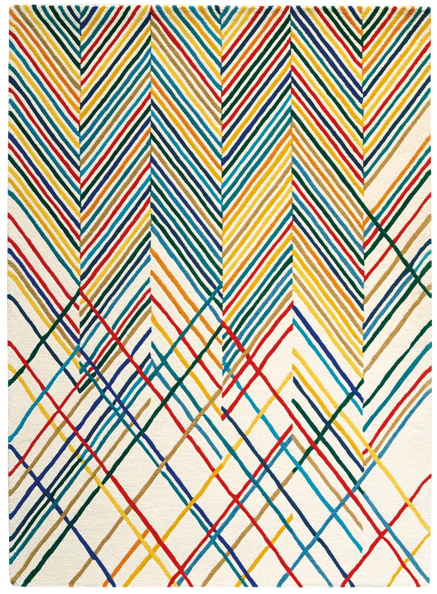 Dekoration - Teppiche - Spike Teppich / 170 x 240 cm - Toulemonde Bochart - Mehrfarbig - Wolle