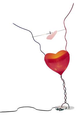 Leuchten - Tischleuchten - One from the Heart Tischleuchte mit Dimmer - Ingo Maurer - Mehrfarbig - Glas, Metall, Spiegel-Finish