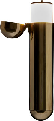Lighting - Wall Lights - ISP Wall light - LED - Left opening by DCW éditions - Brass / Opening left - Polished brass