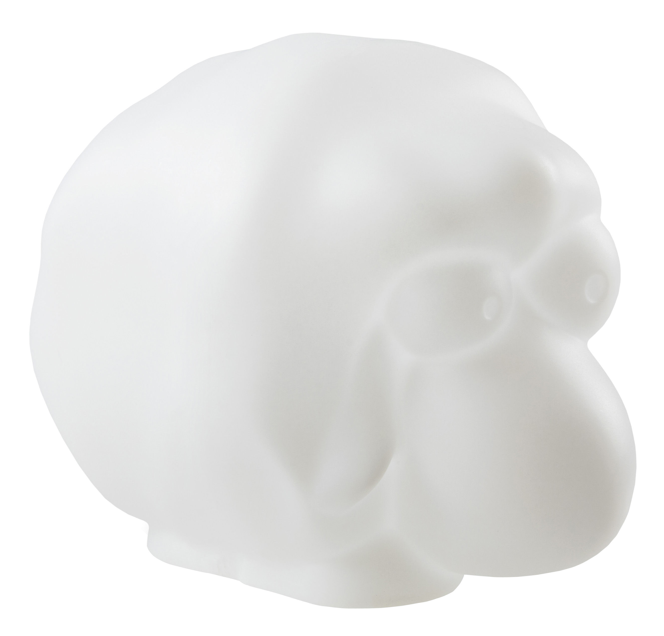 Dekoration - Für Kinder - Rina Wohnraumleuchte / leuchtendes Schaf - Slide - Weiß - recycelbares Polyethen
