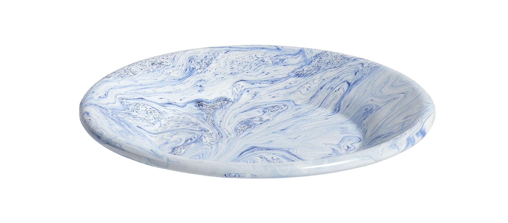 Arts de la table - Assiettes - Assiette à dessert Soft Ice / Ø 21 cm - Acier émaillé - Hay - Marbrures bleues - Acier émaillé