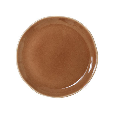 Arts de la table - Assiettes - Assiette Maguelone Large / Ø 26,5 cm - Grès fait main - Jars Céramistes - Châtaigne - Grès émaillé