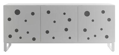 Mobilier - Commodes, buffets & armoires - Buffet Polka Dots / Eclairage LED - L 192 x H 80 cm - Horm - Blanc - Hêtre blanchi, Métal laqué, Méthacrylate