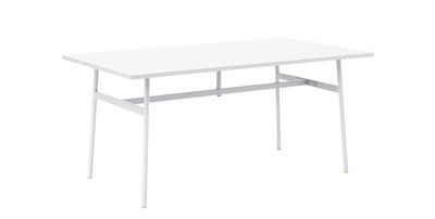 Mobilier - Bureaux - Bureau Union / 160 x 90 cm - Stratifié Fenix - Normann Copenhagen - Blanc - Acier, Stratifié Fenix