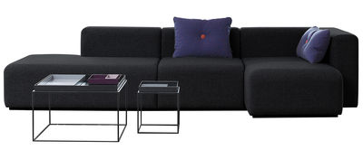Canapé d'angle Mags / L 304 cm - Accoudoir droit - Hay gris foncé en tissu