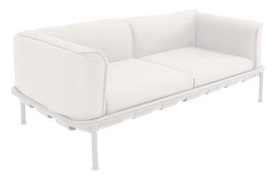 Canapé droit Dock / L 195 - Tissu - Emu blanc en métal