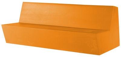 Canapé droit Primary Quattro / 4 places - L 210 cm - Quinze & Milan orange en matière plastique